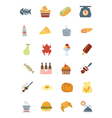 Food Colored Icons 6 vector image