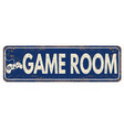 game room vintage rusty metal sign vector image vector image