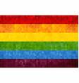 gay pride grunge mosaic flag vector image