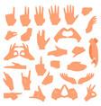 gesturing hands communication hand gesture vector image