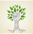 Go Green hand concept tree vector image vector image