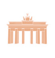 great triumphal arch of germany travel sticker vector image
