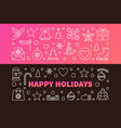 happy holidays colored banners vector image