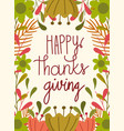 happy thanksgiving day greeting hand lettering vector image vector image