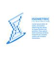 hourglass sandglass icon isometric pixel art vector image