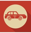 icon car retro design vector image