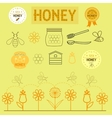 icons and logos with honey vector image