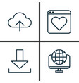 Internet icons set collection of transfer global vector image