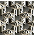 isometric 3d cubes greek seamless pattern vector image vector image