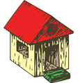 kids toy color wooden house vector image