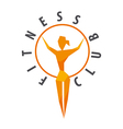 logo girl with a hoop for fitness club vector image vector image