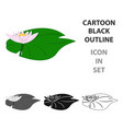 lotus icon in cartoon style isolated on white vector image vector image