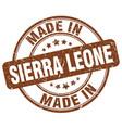 made in sierra leone brown grunge round stamp vector image vector image