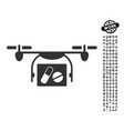medical quadcopter icon with professional bonus vector image vector image