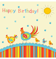 Patchwork greeting card vector image