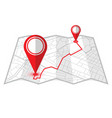 pin in showing location on gps navigator map vector image vector image