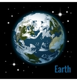Planet earth with some clouds 3d vector image vector image