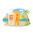 protective suntan cream and lotion commercial vector image