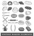 Retro bakery elements vector image