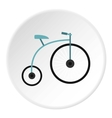 Retro bike icon flat style vector image