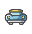 retro car luxury icon cartoon vector image