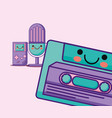 retro cassette icon vector image