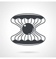 Scallop with gem black icon vector image vector image