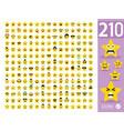set cute star emoji emoticons vector image vector image