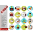 set modern business and finance flat icons vector image