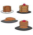 set of pancake vector image