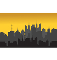 Silhouette of buildings vector image