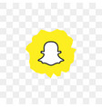 snapchat social media icon design template vector image