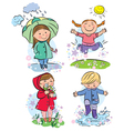 Spring children vector image vector image