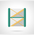 stage scaffolding flat color icon vector image