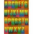 Striped Bright Alphabet vector image vector image