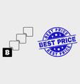 stroke bitcoin blockchain icon and distress vector image vector image