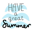 summer cartoon lettering vector image