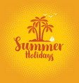 summer tropical banner with palms and sailboat vector image vector image