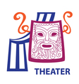 symbol of theater sign vector image vector image