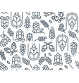 twigs hop seamless pattern vector image