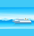 view a beautiful large white cruise ship on vector image