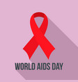 world aids day charity logo set flat style vector image