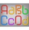 Color pencil alphabet style vector image