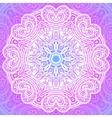 Indian ornament mandala in pink vector image