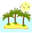 palm tree in island on background vector image