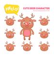 Christmas deer character construction kit vector image