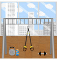 modern gym with trx vector image
