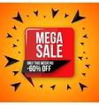 Big sale banner 60 off best offer vector image