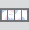 abstract templates for instagram social media vector image