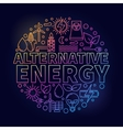 Alternative energy colorful vector image vector image